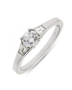 Platinum multi stone diamond engagement ring. 0.50cts