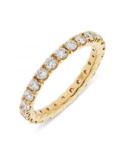 18ct yellow gold brilliant round cut diamond full hoop eternity ring. 1.24cts
