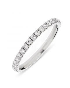 Platinum diamond full hoop eternity ring. 0.65cts