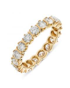 18ct yellow gold brilliant round cut diamond full hoop eternity ring. 2.34cts