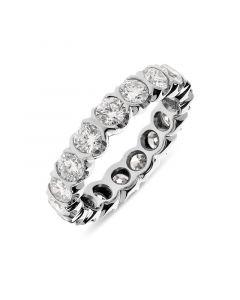 Platinum 4.3mm brilliant round cut full hoop eternity ring. 2.74cts
