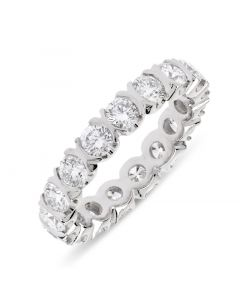 Platinum brilliant round cut diamond full hoop eternity ring. 2.26cts