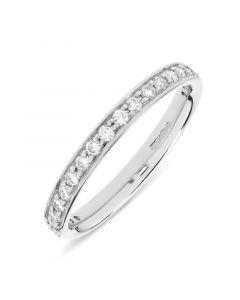 Platinum half hoop round cut diamond wedding ring. 0.33cts