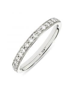 Platinum half hoop round cut diamond wedding ring. 0.25cts